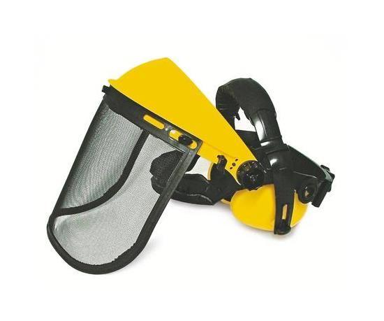 Ochranný štít nastavitelný se sluchátky (38385)