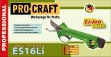 Akumulátorové nůžky PRO Craft ES16Li